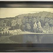 Large Print in Ebonized Molded Frame