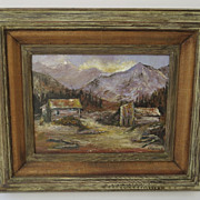 Aspen Scene Signed Oil on Artist Board