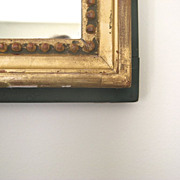 19th Century French Gilt and Painted Mirror