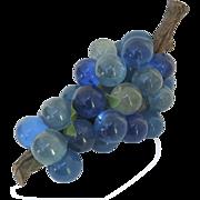 Vintage 1960's Lucite Blue Grape Cluster
