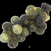 Vintage 1960's Lucite Dark Green Grape Cluster