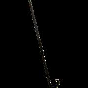 Zebra Wood Walking Stick Cane with Silver Cap