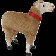 SOLD Vintage Wooly German Germany Sheep Putz Stick Leg