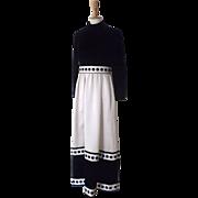 Vintage Geoffrey Beene Satin and Velvet Evening Dress Gown