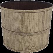 Vintage Chinese Elm Bucket Iron Bands Trash Waste Basket