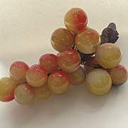 Italian Colored Alabaster Marble Stone Grape Cluster Natural Branch