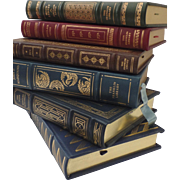 6 x Franklin Library Full Leather Gilt Tooled Books