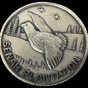 """Vintage Sterling Silver """"Senah Plantation"""" Wild Quail Hunting Fishing Leesburg, Geor"""