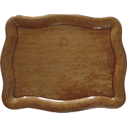 American 19th Century Bird's Eye Maple Shaped Tray Signed by Maker