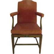 Hepplewhite Style Painted Arm Chair Bell Flowers