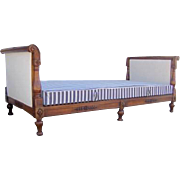 French Walnut Carved Day Bed 19th Century