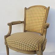 French Period Louis XVI Fauteuil Arm Chair