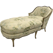 French Painted Louis XV Style Chaise Lounge