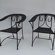 Pair of Deco Garden Chairs