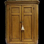 English Pine Hanging Corner Cabinet