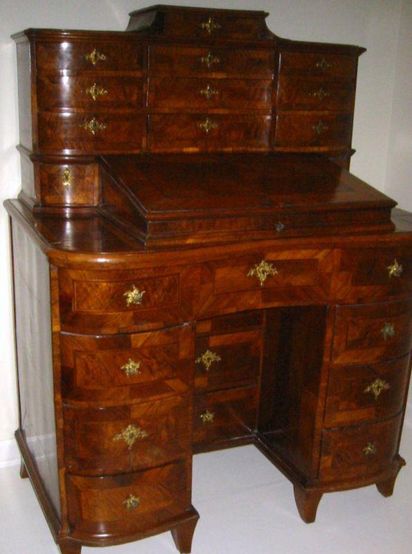 Northern Italian Baroque Walnut Desk c 1760
