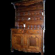 French Elm Vaisselier Cupboard Dresser Cabinet 19th Century