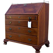 American Cherry Slant Front Desk Fitted Interior 18th Century