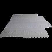 Vintage Cotton Crochet Lace Linen Coverlet Bedspread