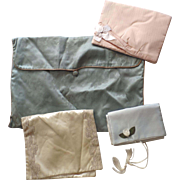 Group of 4 Vintage Lingerie Bags Scarf Hose