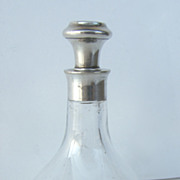Sterling Neck Glass Perfume Bottle
