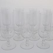 Vintage Set of 10 Baccarat Tall Glasses