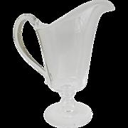 Vintage Steuben Cream Milk Pitcher Applied Handle Footed