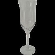 "Orrefors Harmony Fluted Crystal Wine Glasses 8 3/4"" Tall Denmark"
