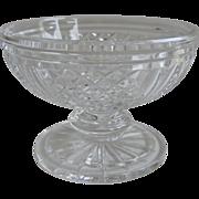 Vintage Signed Waterford Footed Compote Bowl Elizabeth Pattern G.777