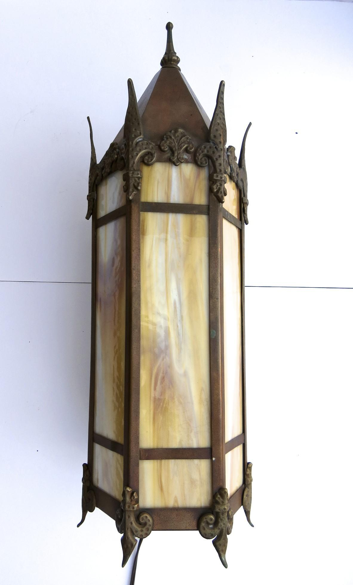 Wall Sconces Gothic : Copper Gothic Wall Sconce Peaked Top from blacktulip on Ruby Lane