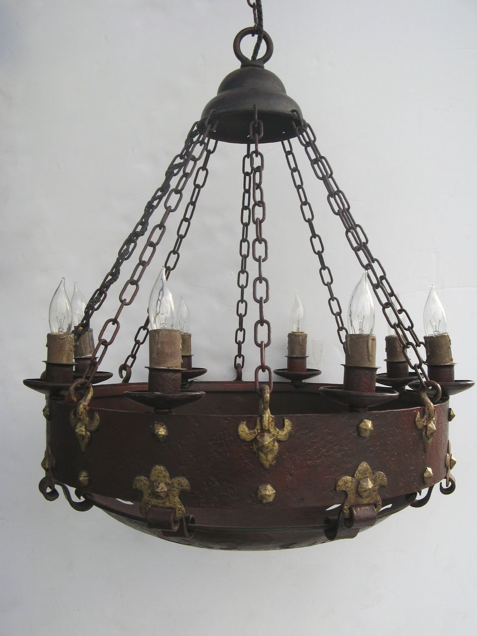 wonderful arts and crafts iron gothic style chandelier