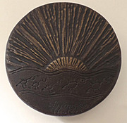 Bronze Door Pull Knob by William Hunter Sun Ray Native American