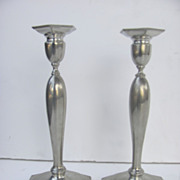 Vintage Pewter Candlesticks