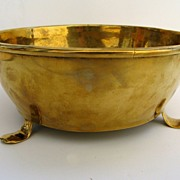 English 18th century Brass Footed Bowl