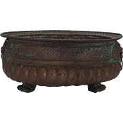 Very Large Paw Footed Brass Jardiniere Wine Cooler Late 18th Century