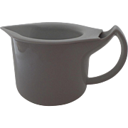 SOLD White Vintage BMF Nurnberg Germany Syrup Gravy Pitcher Designed to Keep Liquids Hot