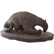 SOLD Anteater Folk Art Pottery Sculpture by Frances Jean Sherman