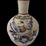 Vintage Large Folk Art Tonala Sandstone Pottery Vase Birds Signed J.C.