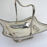 English Sterling Silver Georgian Swing Handle Basket c1812