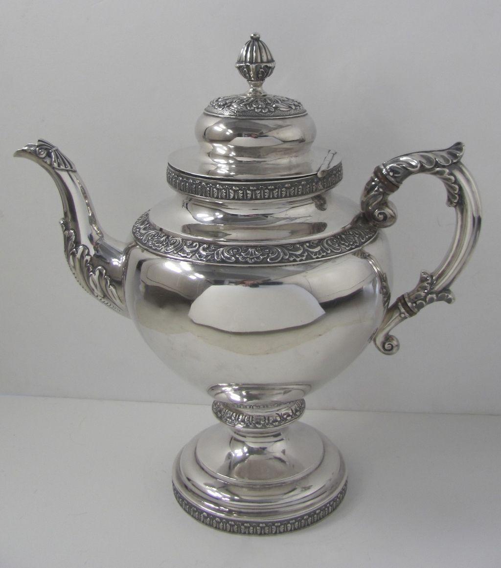 Silver Coffee Pot by R. W. Wilson, Philadelphia