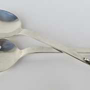 Sterling Silver Salad Servers by Heather Mexico