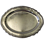 Early Sheffield Fused Plate Platter with Engraved Armorial