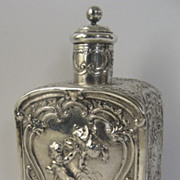 European Repousse Tea Caddy with Cupids Angels Putti
