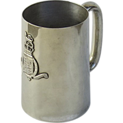 1900's King's College Silver Plated Tankard Mug
