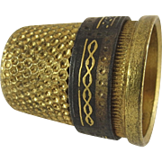 Vintage Gold Plated Thimble