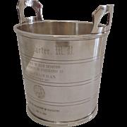 SOLD Vintage Barker Ellis English Silver Plated Ice Bucket Trophy Presentation Engraving