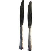 Pair of Gorham Sterling Silver 1938 Butter Knife in Greenbrier Pattern