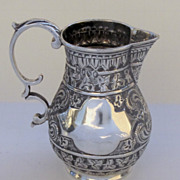 Sterling Sparrow Beak Cream Pitcher Persian Motif by Charles Boynton 1888