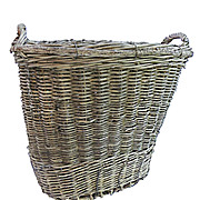 Large Ship's Cargo Wicker Basket with Side Handles
