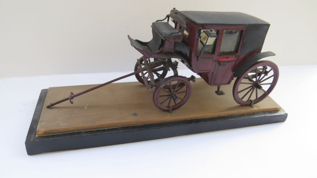 Wooden Scale Model of an English Coach